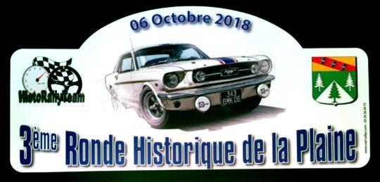 HISTO RALLYE TEAM - 3ème Ronde Historique de la Plaine - Octobre 2018